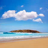 Cofete Fuerteventura beach at Canary Islands Stock Images