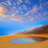 Cofete Fuerteventura beach at Canary Islands Royalty Free Stock Photo