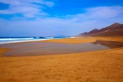 Cofete Fuerteventura beach at Canary Islands Royalty Free Stock Photos