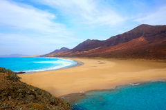 Cofete Fuerteventura beach at Canary Islands Royalty Free Stock Image