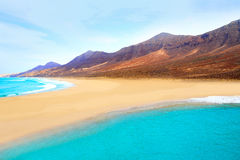Cofete Fuerteventura beach at Canary Islands Royalty Free Stock Photography