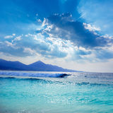 Cofete Fuerteventura beach at Canary Islands Stock Image