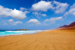 Cofete Fuerteventura beach at Canary Islands Royalty Free Stock Images