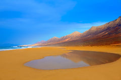Cofete Fuerteventura beach at Canary Islands Stock Photo
