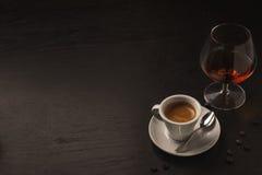Coffè et cognac photographie stock libre de droits