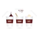 coffe去图标被设置 库存照片