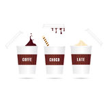 coffe去图标被设置 库存例证