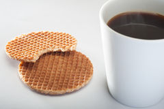 Coffe和焦糖 免版税库存照片