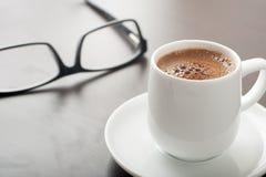 Coffe和玻璃 免版税库存图片