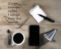 Coffe定期的咖啡休息 免版税库存图片