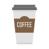 Coffe杯子拿走传染媒介例证 图库摄影