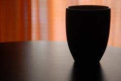 黑coffe杯子杯子 免版税库存图片