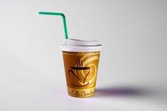 coffe杯子pape 免版税库存照片