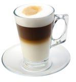 coffe查出的牛奶 库存图片