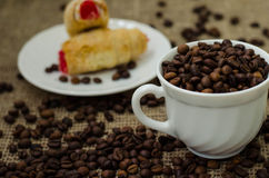 Coffe豆静物画 库存图片