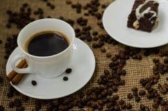 Coffe豆静物画 库存照片