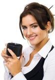 coffe γυναίκα φλυτζανιών Στοκ εικόνα με δικαίωμα ελεύθερης χρήσης