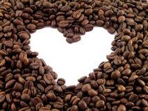 coffe καρδιά Στοκ Φωτογραφίες