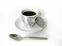 coffe κουτάλι φλυτζανιών στοκ εικόνα