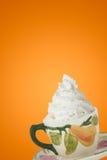 coffe κρέμα που κτυπιέται Στοκ Φωτογραφία