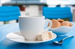Coffe στο μπλε Στοκ Εικόνα