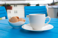 Coffe στο μπλε Στοκ φωτογραφία με δικαίωμα ελεύθερης χρήσης