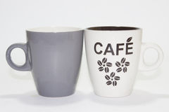 coffe φλυτζάνια δύο Στοκ φωτογραφία με δικαίωμα ελεύθερης χρήσης