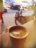 Coffe и велосипед стоковые фотографии rf