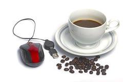 Coffe и компьютер. стоковое фото rf