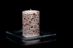 Coffe и свеча Стоковые Изображения RF
