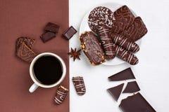 Coffe и шоколады стоковая фотография