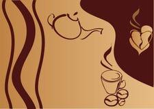 coffe предпосылки иллюстрация штока