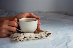 Coffe с молоком для завтрака Стоковые Изображения RF