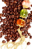 Coffe. Beans on white background stock photo