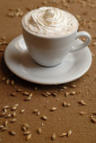 Coffe. And corn on the table Royalty Free Stock Images