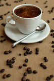 Coffe. Cup of coffee on the desk Stock Photography