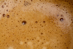 Coffe. Drink bubble texture - detail Royalty Free Stock Photography