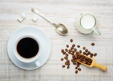 Φλυτζάνι Coffe και γάλα Στοκ φωτογραφίες με δικαίωμα ελεύθερης χρήσης
