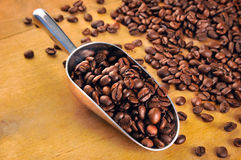Coffe aromatic beans Stock Photo