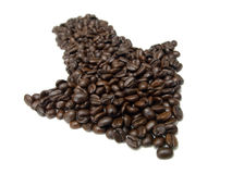Coffe Arrow 02 Stock Images