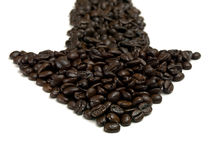 Coffe Arrow 03 Royalty Free Stock Photography