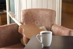 Coffe auf einer Tabelle eines Restaurants Stockfotografie