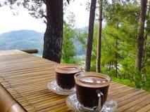 Coffe auf Wald stockfotografie