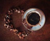 Coffe avec amour Photo libre de droits