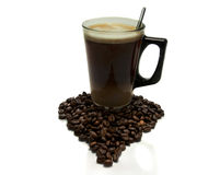 Coffe avec amour Image stock