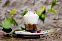 Coffe avec de la crème Photographie stock