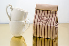Coffe Bag With Cups Royalty Free Stock Images