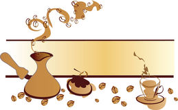 Coffe banner Royalty Free Stock Images
