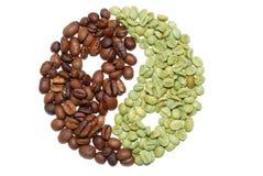 Coffe bean. Roasted coffe bean with tai ji figure royalty free stock photo