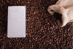 Coffe bean roasted, nice texture Royalty Free Stock Image